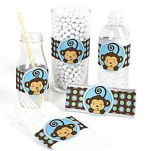 Monkey Boy - DIY Party Wrappers - 15 ct