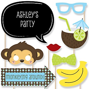 Monkey Boy - Baby Shower Photo Booth Props Kit - 20 Props