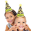 Monkey Neutral - Personalized Cone Birthday Party Hats - 8 ct