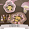Monkey Girl - 8 Person Birthday Party Kit