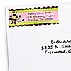 Pink Monkey Girl - Personalized Baby Shower Return Address Labels - 30 ct