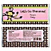 Monkey Girl - Personalized Baby Shower Candy Bar Wrapper Favors