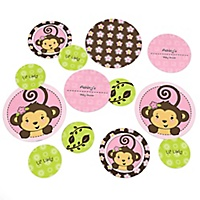 monkey girl baby shower decorations theme