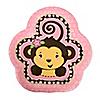 Pink Monkey Girl - Baby Shower Dessert Plates - 8 ct