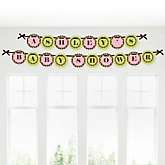 Monkey Girl - Personalized Baby Shower Garland Banner