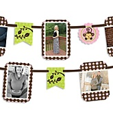 Pink Monkey Girl - Baby Shower Photo Garland Banners