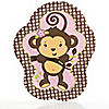 Monkey Girl - Baby Shower Dinner Plates - 8 ct