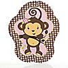Pink Monkey Girl - Baby Shower Dinner Plates - 8 ct