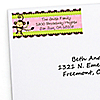Pink Monkey Girl - Personalized Birthday Party Return Address Labels - 30 ct