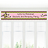 Monkey Girl - Personalized Birthday Party Banners