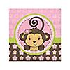 Monkey Girl - Birthday Party Beverage Napkins - 16 ct