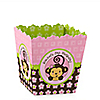 Pink Monkey Girl - Personalized Birthday Party Candy Boxes