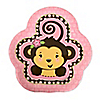 Pink Monkey Girl - Birthday Party Dessert Plates - 8 ct