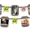 Pink Monkey Girl - Birthday Party Photo Garland Banners