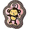 Monkey Girl - Birthday Party Dinner Plates - 8 ct
