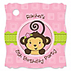Monkey Girl - Personalized Birthday Party Tags - 20 ct