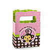 Monkey Girl - Personalized Birthday Party Mini Favor Boxes