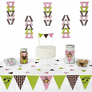 Monkey Girl - 72 Piece Triangle Party Decoration Kit