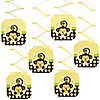 Monkey Neutral -Birthday Party Hanging Decorations - 6 ct
