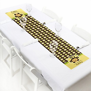 Monkey Neutral - Personalized Party Petite Table Runner