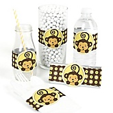 Monkey Neutral - Do It Yourself Baby Shower Wrappers - 15 Count