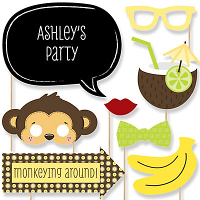 Monkey Baby Shower Photo Booth Prop Kit