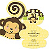 Monkey Neutral - Shaped Birthday Party Invitations