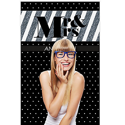 Mr. & Mrs. - Silver - Wedding Party Photo Booth Backdrops - 36