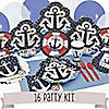 Ahoy - Nautical - 16 Person Party Kit
