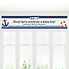 Ahoy - Nautical - Personalized Baby Shower Banners