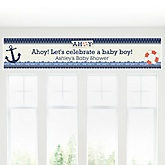Ahoy - Nautical - Personalized Baby Shower Banner