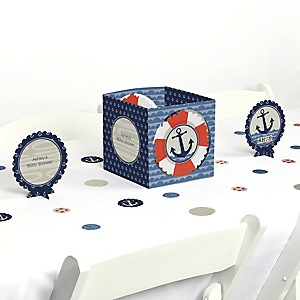 Ahoy - Nautical - Baby Shower Centerpiece & Table Decoration Kit