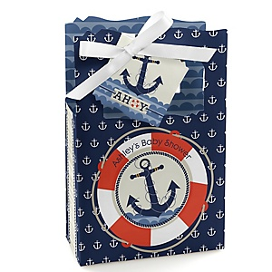 Ahoy - Nautical - Personalized Baby Shower Favor Boxes