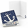 Ahoy - Nautical - Baby Shower Thank You Cards - 8 ct