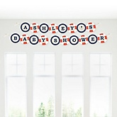 Ahoy - Nautical - Personalized Baby Shower Garland Banner