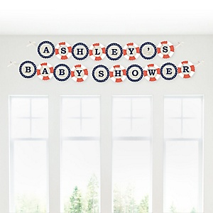 Ahoy - Nautical - Personalized Baby Shower Garland Letter Banners