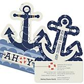 Ahoy - Nautical - Shaped Baby Shower Invitations