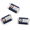Ahoy - Nautical - Personalized Baby Shower Mini Candy Bar Wrapper Favors - 20 ct
