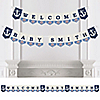 Ahoy - Nautical - Personalized Party Bunting Banner & Decorations