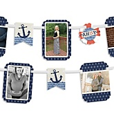 Ahoy - Nautical - Baby Shower Photo Bunting Banner