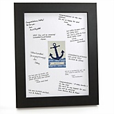 Ahoy - Nautical - Personalized Baby Shower Print with Signature Mat