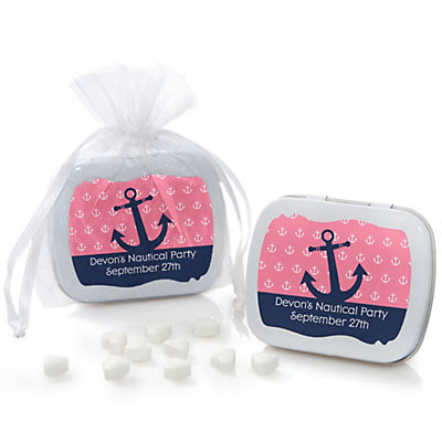 Ahoy - Nautical Girl - Personalized Party Mint Tin Favors...