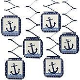Ahoy - Nautical - Baby Shower Hanging Decorations - 6 Count