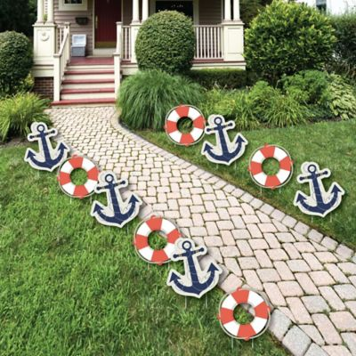 Ahoy   Nautical Anchor Lawn Decorations   Outdoor Baby Shower Or Birthday  Party Yard Decorations