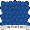 Navy - Birthday Party Latex Balloons - 100 ct