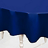 Navy - Birthday Party Plastic Round Tablecovers