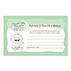 Baby Neutral - Personalized Baby Shower Helpful Hint Advice Cards