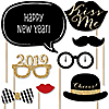New Year's Eve Party - Gold - 20 Piece Photo Booth Props Kit