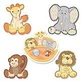 Noah's Ark - Shaped Baby Shower Paper Cut-Outs - 24 ct