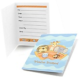 Noah's Ark - Fill In Baby Shower Invitations - Set of  8